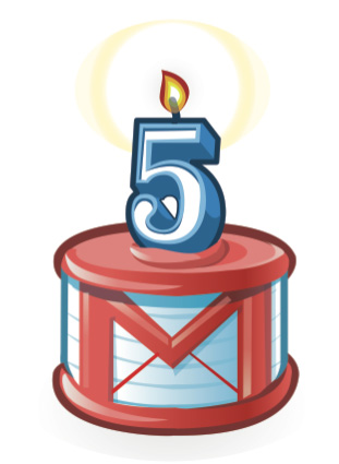 Gmail a 5 ans