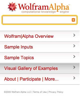 Wolfram Alpha pour iPhone et iPod Touch