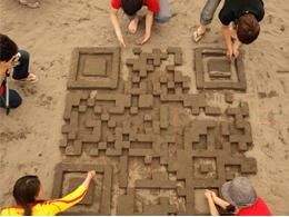 QR Code en sable