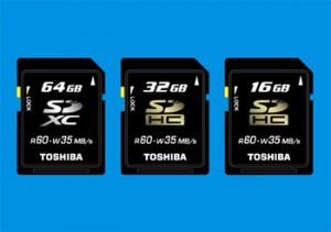 Cartes Toshiba SDXC