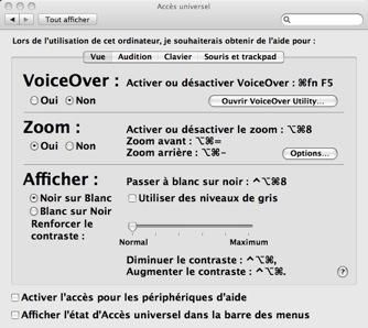 Mac OS X - Accès universel