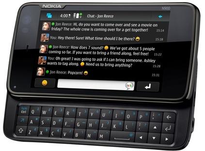 Nokia N900 - clavier