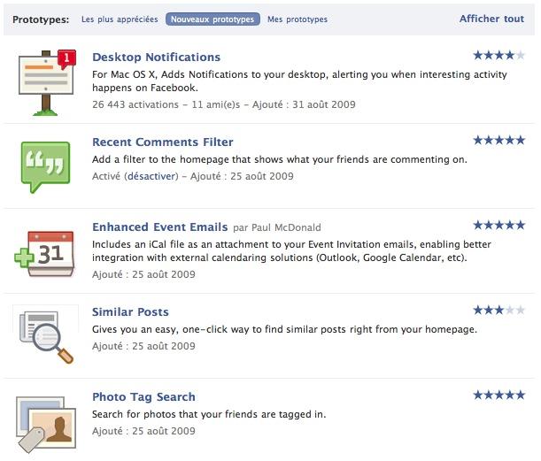 Facebook - Prototypes