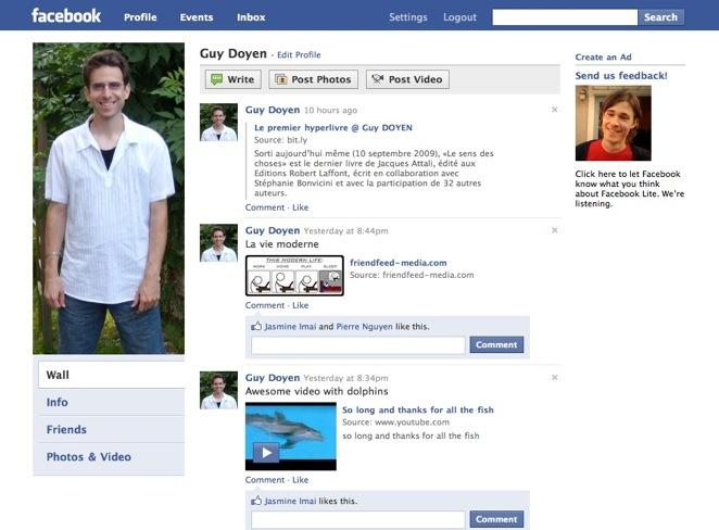 Facebook Lite - Profil
