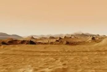 Survol ultra-réaliste de la planète Mars